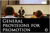 General provisions for promotion