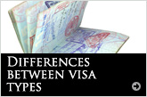 Differences between visa types